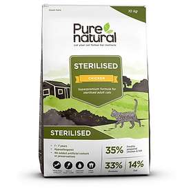 Pure Natural Cat Adult Sterilised Chicken 10kg