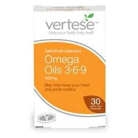 Vertese Omega Oils 3-6-9 500mg 60 Capsules