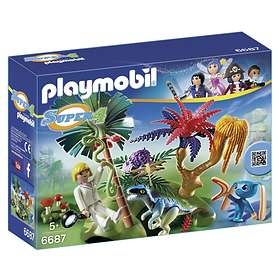 Playmobil Super4 6687 Lost Island with Alien and Raptor