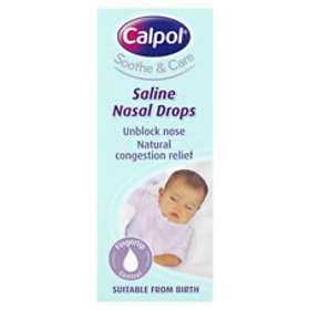 Calpol Soothe and Care Saline Näsdroppar 10ml