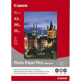 Canon SG-201 Photo Paper Plus Semi-gloss Satin 260g A3 20stk