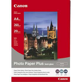 Canon SG-201 Photo Paper Plus Semi-gloss Satin 260g A4 20stk