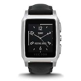 Vector Contemporary Meridian Stainless Steel Case Leather Strap