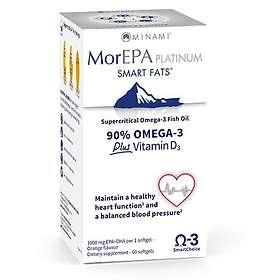 Minami Nutrition MorEpa Platinum 90% Omega-3 + D3 60 Capsules