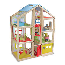 Melissa & Doug Hi-Rise Wooden Dollhouse and Furniture Set (2462)