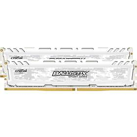 Crucial Ballistix Sport LT White DDR4 PC19200/2400MHz CL16 2x8GB