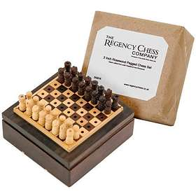Regency Chess Rosewood Pegged Chess Set (pocket)