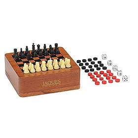 Jaques of London Chess, Backgammon and Draughts Set (pocket)