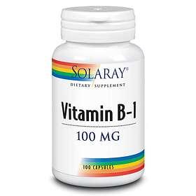 Solaray B1-vitamin 100 Kapslar