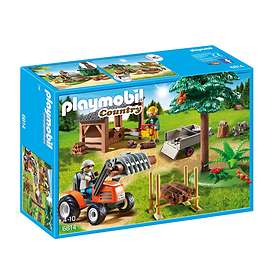 Playmobil Country 6814 Lumber Yard with Tractor