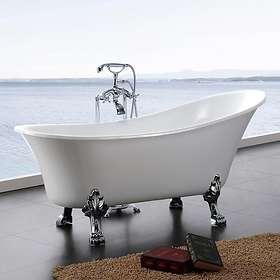 Bathlife Tassbadkar Fossing Fristående 162x77 (Vit)