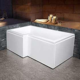Bathlife Badekar Behag Venstre 150x85 (Hvit)