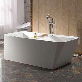 Bathlife Badekar Hjärta Frittstående 170x80 (Hvit)