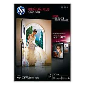 HP Premium Plus Glossy Photo Paper 300g A4 20stk