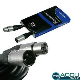 Accu-Cable Pro XLR - XLR M-F 0.5m