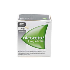 McNeil Nicorette Tyggegummi Original Sugar Free 2mg 210stk