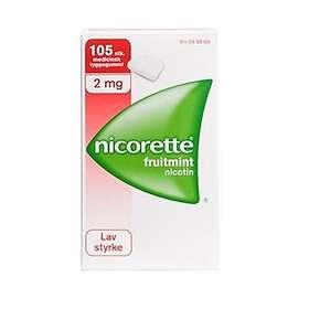 McNeil Nicorette Tyggegummi Fruitmint 2mg 105stk