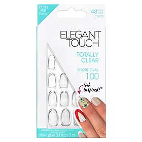 Elegant Touch Totally Clear False Nails 48-pack