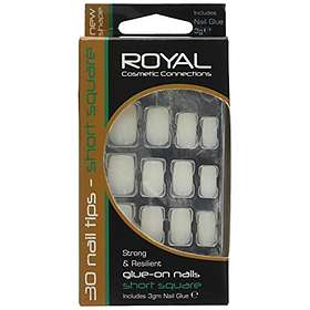 ROYAL Cosmetics Connections Glue On Short Square False Nails 30-pack
