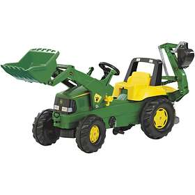 Rolly Toys Junior John Deere + Junior Loader & Backhoe