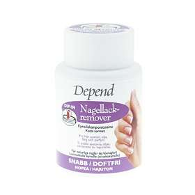 Depend O2 Dip-in Acetone Free Odourless/Fast Nail Polish Remover 75ml