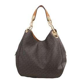 6c4e32bf71077 Find the best price on Michael Kors Fulton Large Logo Shoulder Bag ...