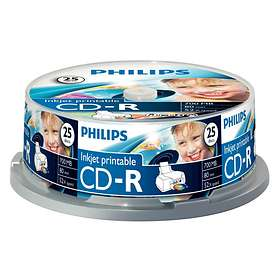 Philips CD-R 700MB 52x 25-pack Spindel Inkjet