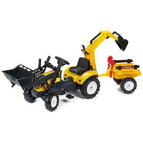 Falk Toys Ranch Trac + Loader + Backhoe + Trailer & Accessories (2051/2052/2055)
