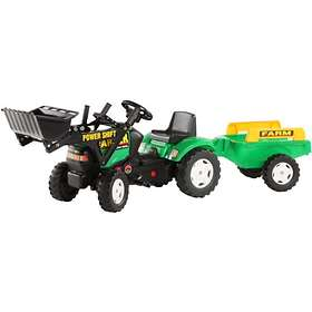 Falk Toys Farmer Turbo Diesel + Loader + Trailer (975AM/976AM)