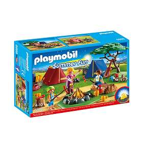 Playmobil Summer Fun 6888 Camp Site with LED Fire