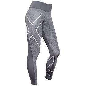 2XU Pattern Mid-Rise Compression Tights (Dam)