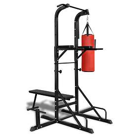 vidaXL Power Tower With Sit Up Bench And Boxing Bag