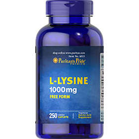Puritan's Pride L-Lysine 1000mg 250 Tabletter