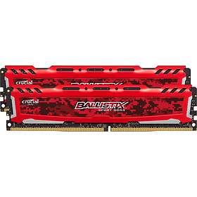 Crucial Ballistix Sport LT Red DDR4 PC19200/2400MHz CL16 2x4GB