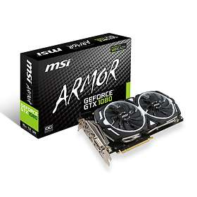 MSI GeForce GTX 1080 Armor OC HDMI 3xDP 8Go