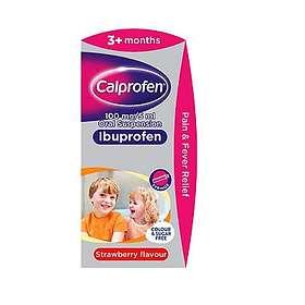 Calpol Calprofen Ibuprofen Suspension Sugar Free 3+ Months 100ml
