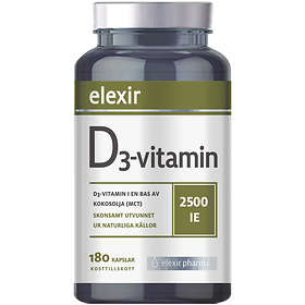 Elexir Pharma D3 Vitamin 2500IU 180 Kapslar