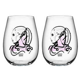 Kosta Boda All About You Love You Dricksglas 65cl 2-pack