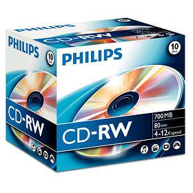 Philips CD-RW 700MB 12x 10-pack Jewelcase