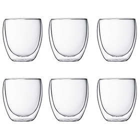 Bodum Pavina Espresso Drikkeglass (100mm) 25cl 6-pack
