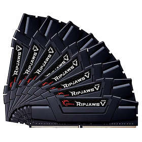 G.Skill Ripjaws V Black DDR4 3200MHz 8x8GB (F4-3200C14Q2-64GVK)