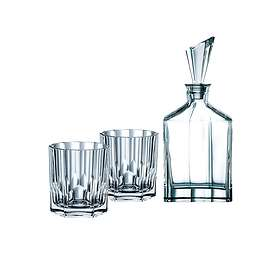Nachtmann Aspen Karaff 75cl Med 2 Whiskyglas 32,9cl