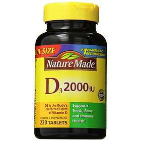 Nature Made Vitamin D3 2000IU 220 Tabletter