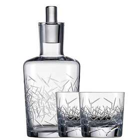 Schott Zwiesel Hommage Glace Whiskykaraff 50cl Med 2 Whiskyglas 39,7cl
