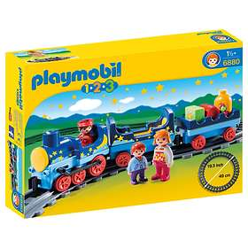 Playmobil 1.2.3 6880 Night Train with Track