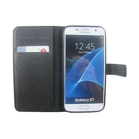 Teknikproffset Plånboksväska i Grövre Skinnimitation for Samsung Galaxy S7