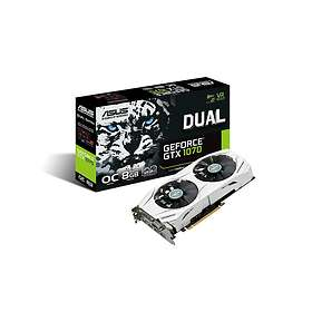 Asus GeForce GTX 1070 Dual OC 2xHDMI 2xDP 8Go