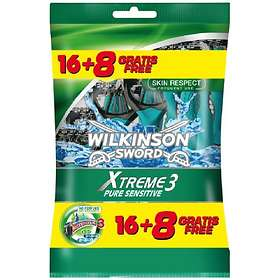 Wilkinson Sword Xtreme 3 Pure Sensitive Disposable Pack de 24