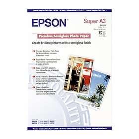 Epson Premium Semi-gloss Photo Paper 250g A3+ 20stk