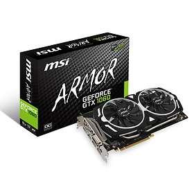 MSI GeForce GTX 1060 Armor OC V1 HDMI 3xDP 6GB